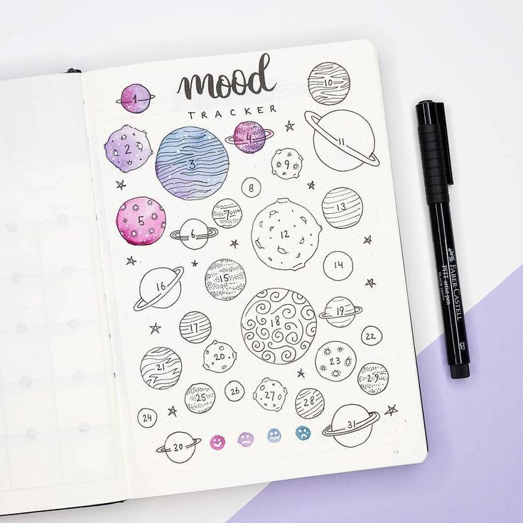 """Photo of Manon on Instagram: """"Mood tracker of the month! I quite like the purple and pi…"""