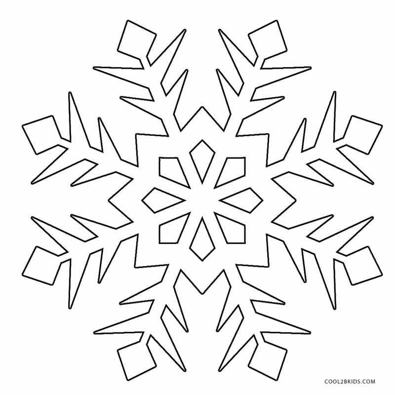 Printable Snowflake Coloring Pages For Kids | Cool2bKids | seasonal ...