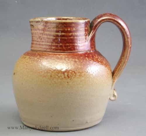 London saltglaze stoneware jug, circa 1750