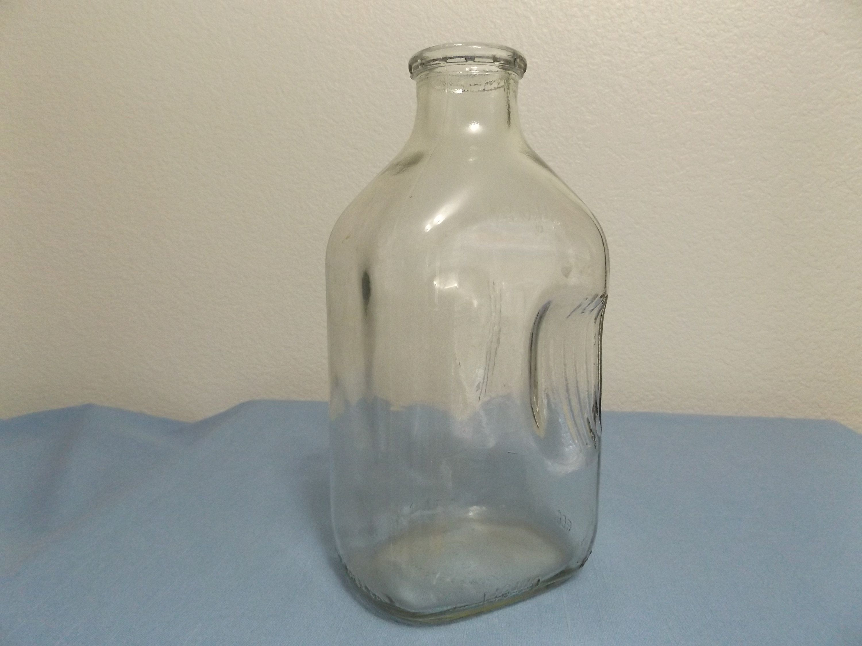 Vintage Half Gallon Glass Milk Bottle Happy Ours Farm Arizona