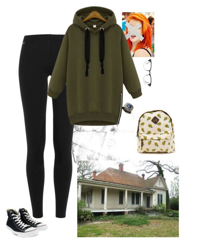 """""""Teen Found"""" by crimsonfuckr ❤ liked on Polyvore featuring Boohoo, Polo Ralph Lauren, Converse and Ray-Ban"""