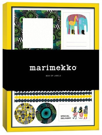 This desirable box of labels makes both a thoughtful gift and a practical desk tool. More than 100 labels featuring Marimekko's bright designs will add flair to packages, mail, folders, kitchen projects, and more.