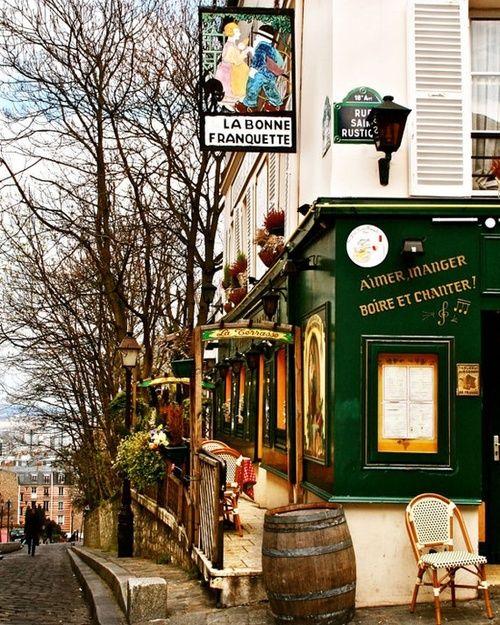 La Bonne Franquette French Art Parisian Bistro Decor Cafe