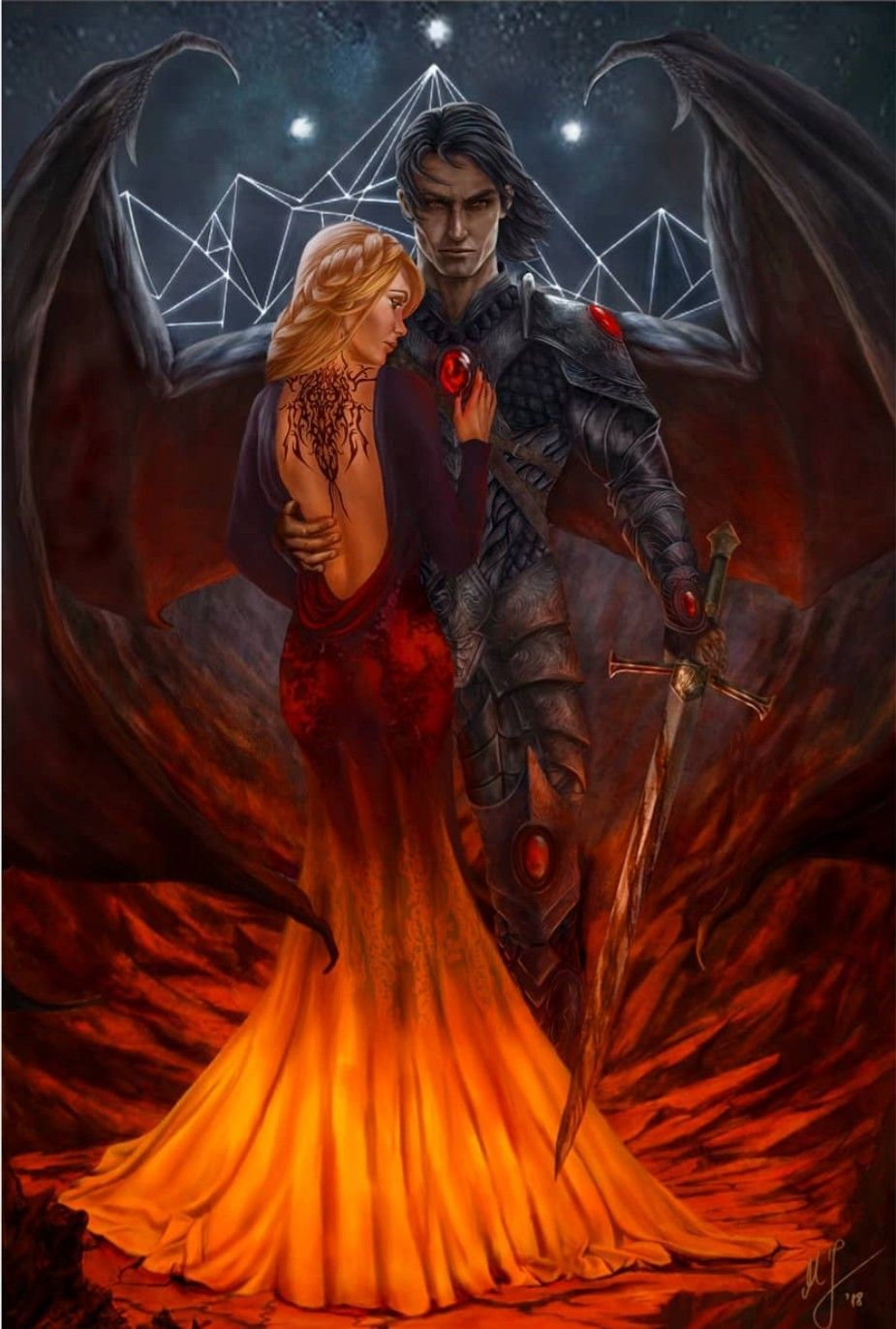 Nessian Feyre And Rhysand A Court Of Wings And Ruin Sarah J