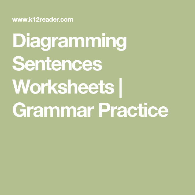 Diagramming sentences worksheets second grade sentences learners study the process used to diagram sentences and then work through numerous exercises to test ccuart Choice Image