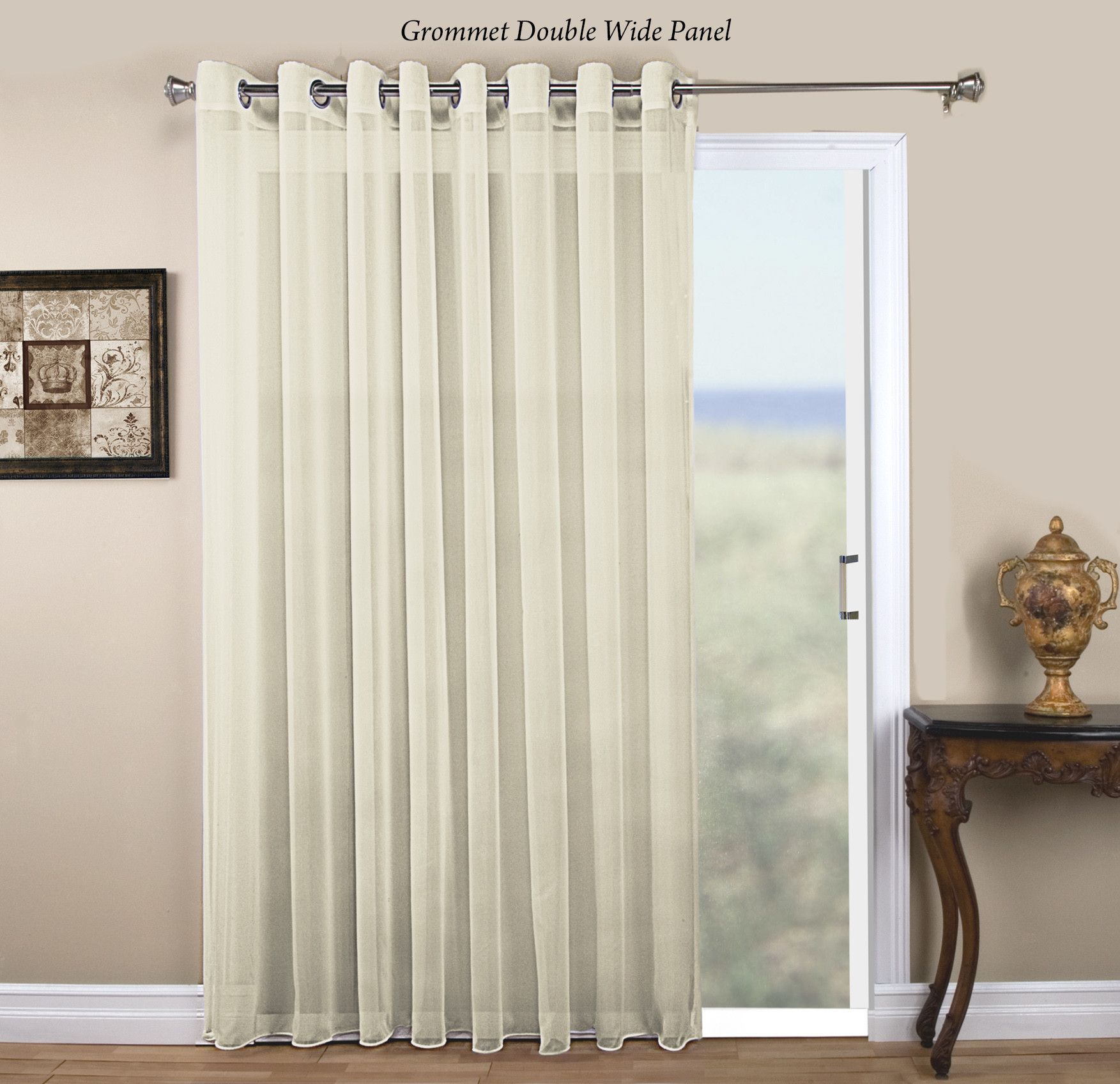 Features Brushed Nickel Grommets Drapes Beautifully Filters Outside Light And Glaare Includes An Attachable Pull Wand Provides Privacy