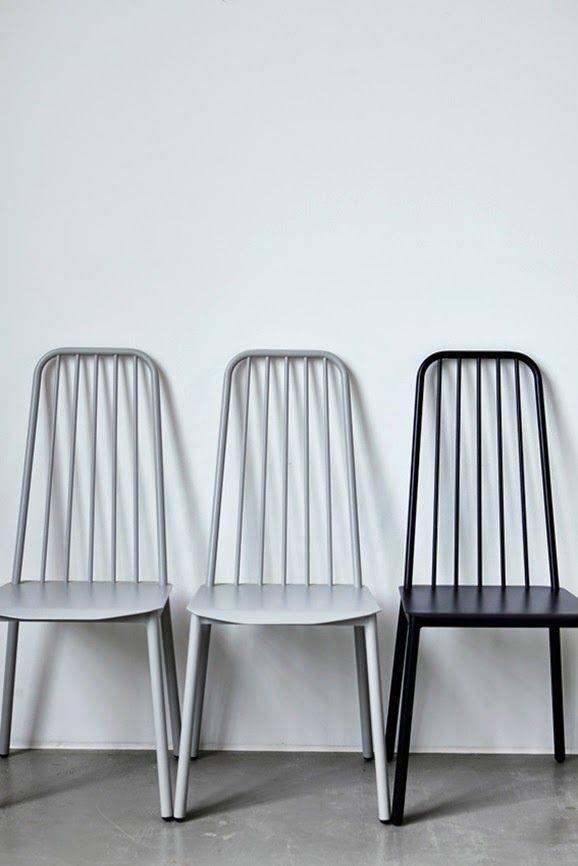 House Doctor Chaise salle à manger - aluminium gris- House Doctor
