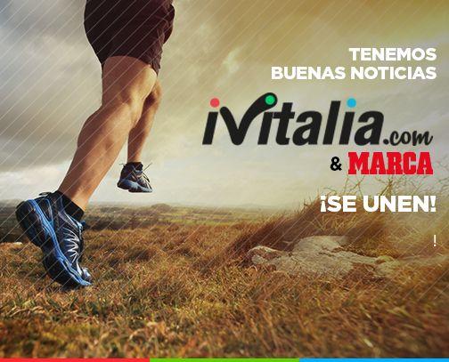 """¡Tenemos buenas noticias para todos nuestros #iViFANS!  """"A partir de hoy emprendemos el camino para formar la mayor comunidad de España de hábitos saludables"""" ¿Quieres saber por qué?  ¡¡¡Nos unimos a MARCA !!! http://bit.ly/IVITALIA_MARCA"""