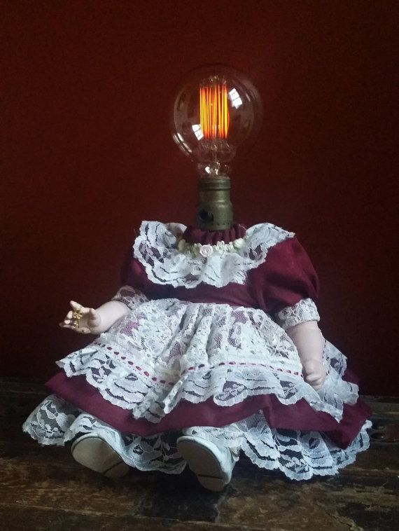 """One-of-a-kind Upcycled Repurposed Creepy Doll Steampunk Art """"She Holds The Key…"""