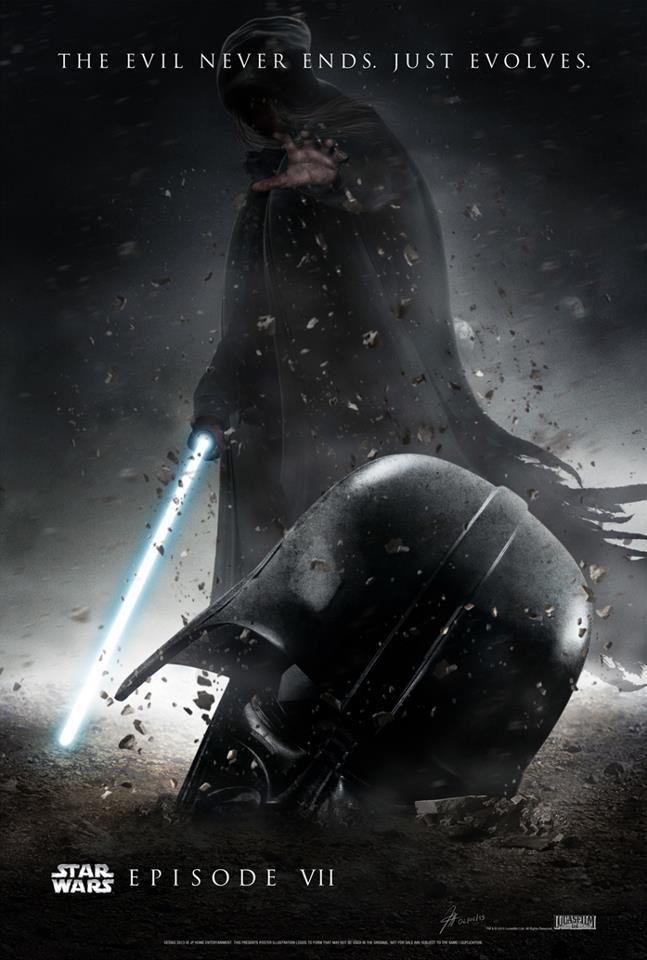 Awesome Star Wars Seven fan poster artwork