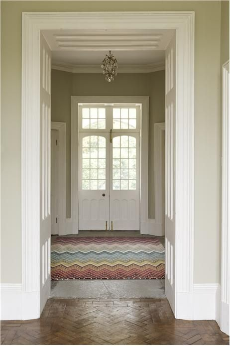Farrow & Ball Old White - greeny, even in North facing ...