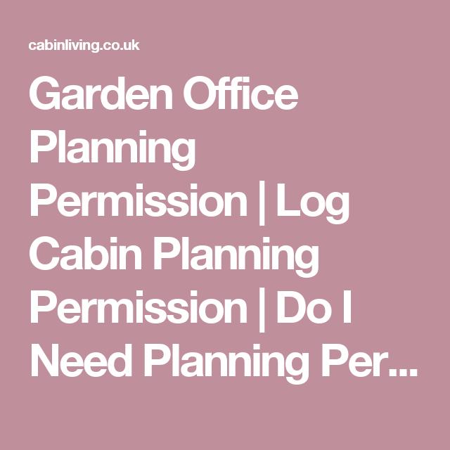 Garden Office Planning Permission