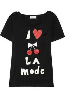 Sonia by Sonia Rykiel  Printed cotton T-shirt