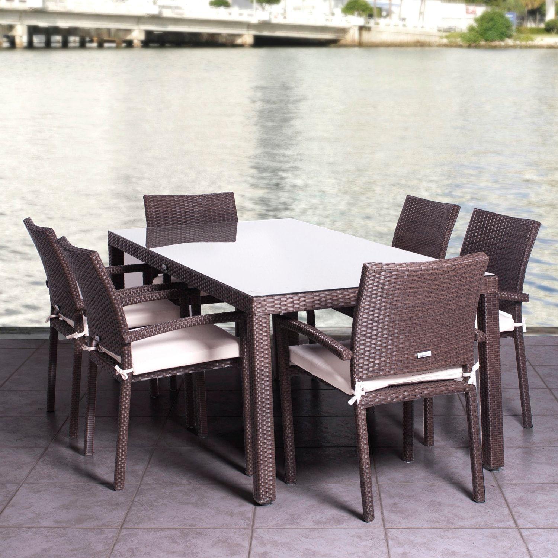 Atlantic 8 Pc Liberty Wicker Outdoor Chair Set