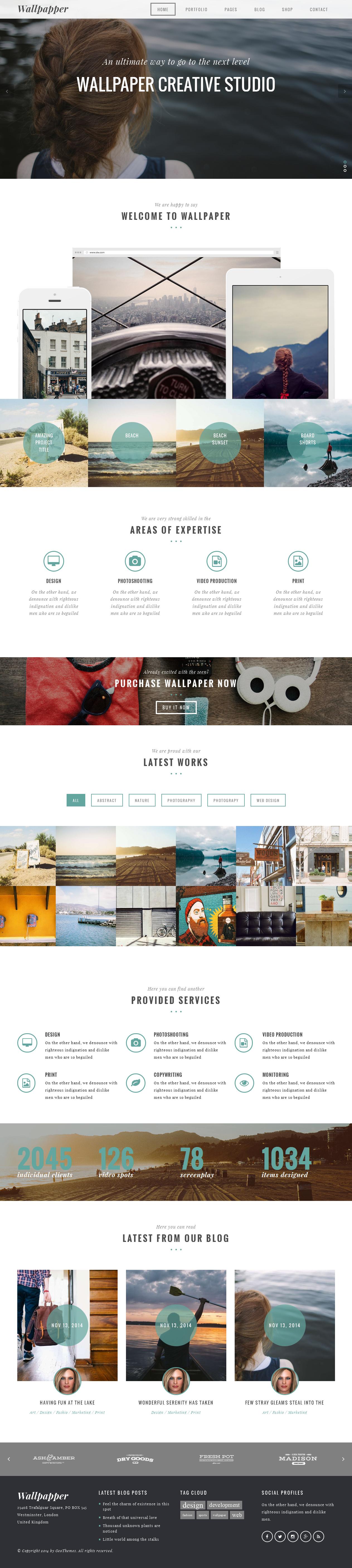 Wallpaper - Multi-Purpose Wordpress Theme | Wordpress