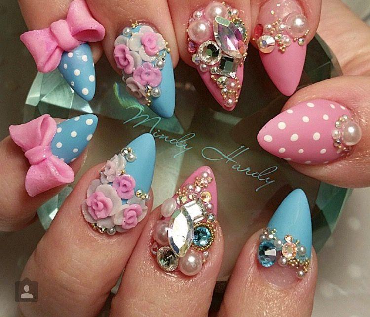 Kawaii 3D Nails | 3d nails | Pinterest | Mani pedi, Pedi and Beauty ...