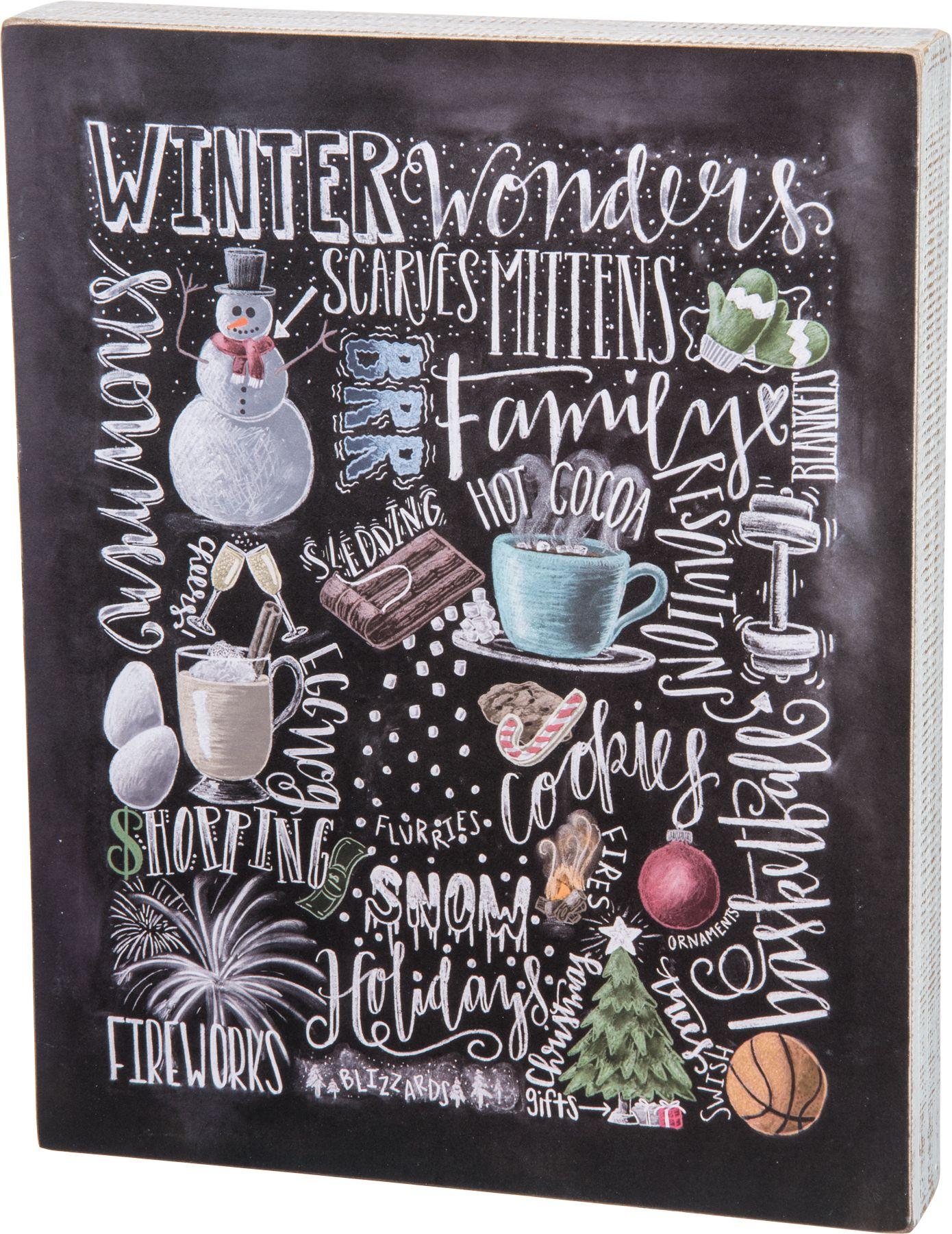 $15.99 Winter Wonders Chalk Sign