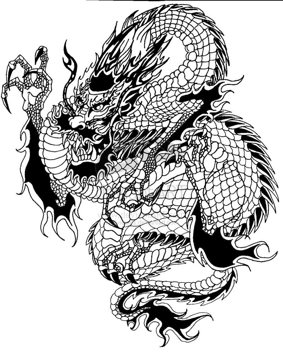 image from http coloringkids co coloring 92185 chinese dragon by