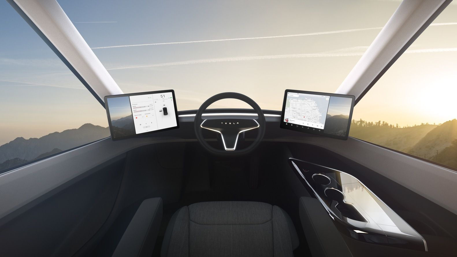 Gallery of Tesla Unveils Electric Cargo Truck that Could