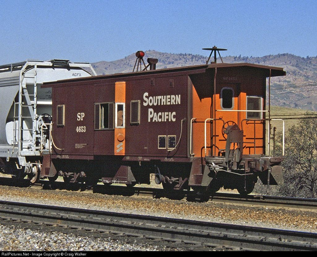 Net Photo: SP 4653 Southern Pacific Railroad Caboose at Bealville,  California by Craig Walker