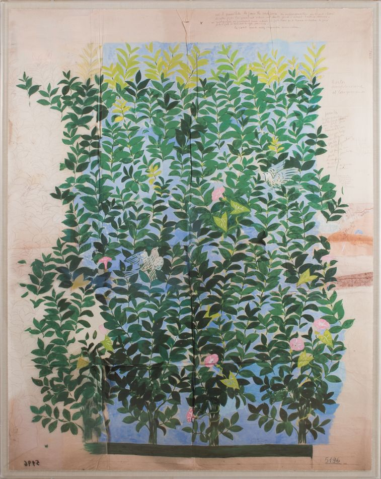 Green Leaves by French textile artist, painter & engraver, Paule Marrot (1902-87). Her modernist style is associated with the Art Deco movement, via Natural Curiosities