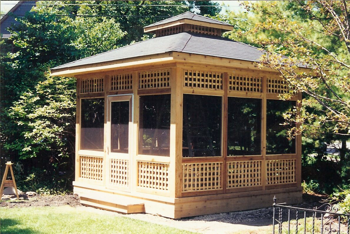 Cedar Pavillion Style Gazebo Gazebos Pavilions And