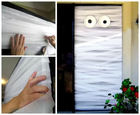 DIY Halloween  DIY Halloween Door Decorations holloween - pinterest halloween door decor
