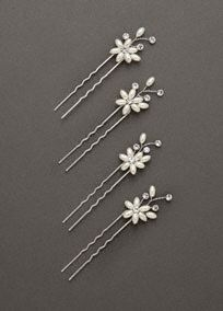 Floral design: DB11A017C set of 4.  Available in Silver. $20.00