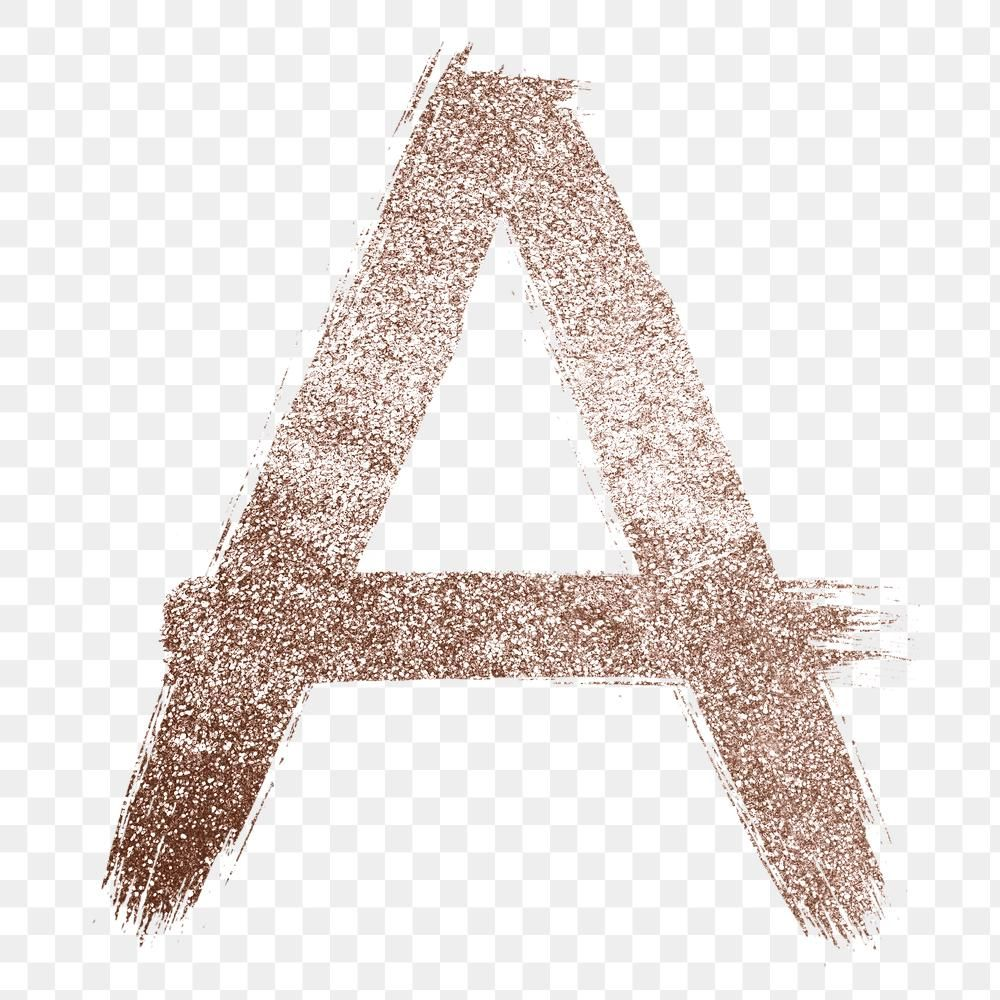 Painted Glitter A Letter Png Rose Gold Font Free Image By Rawpixel Com Hein Lettering Free Illustrations Gold