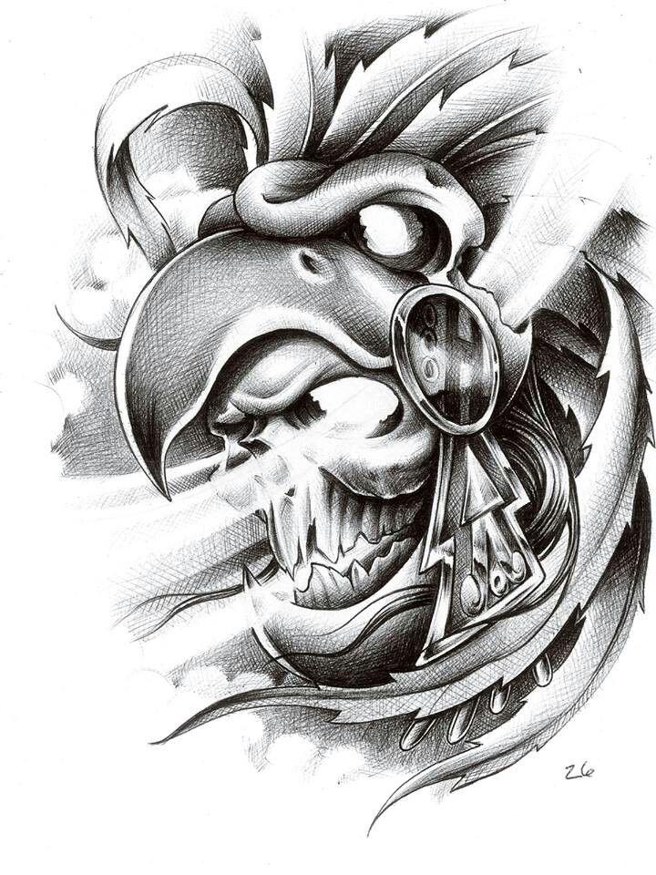 Rey Aguila Dibujos Azteca Aztecas Dibujos Arte Azteca Y