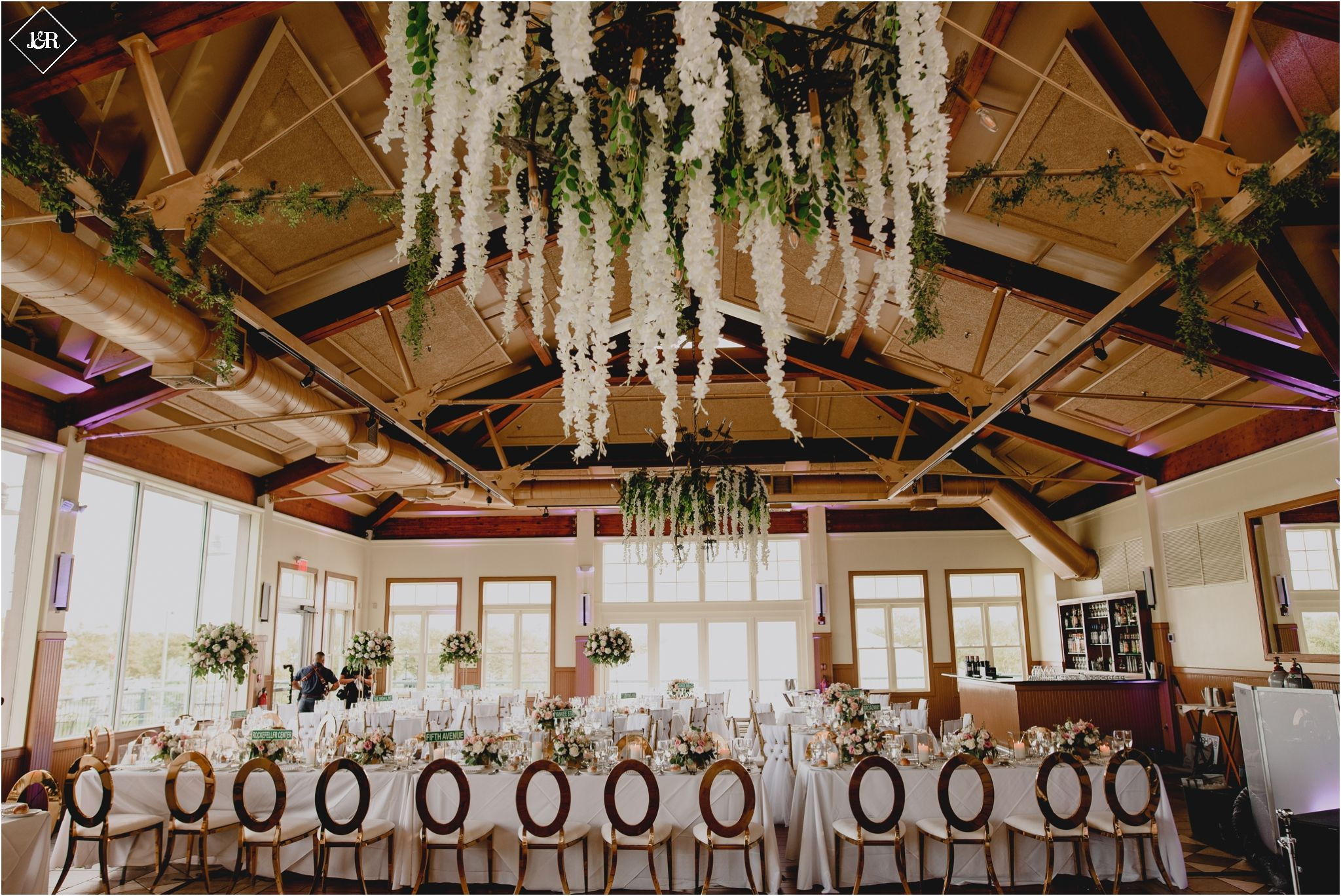 Summer Liberty House Wedding J R Photography Jennifer Jay Liberty House Wedding Ceiling Wedding Reception Decorations