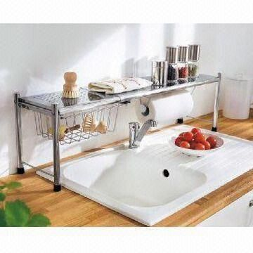 Hanging dish drying rack kitchen rack home and garden pinterest dish drying racks - Kitchen sink drying rack ...