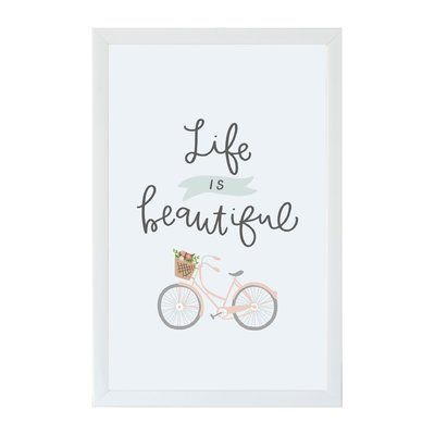 Wrought Studio Life is Beautiful Wall Mounted Magnetic Board Size