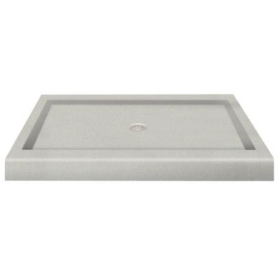 Transolid Solid Surface 48 X 34 Single Threshold Shower Base