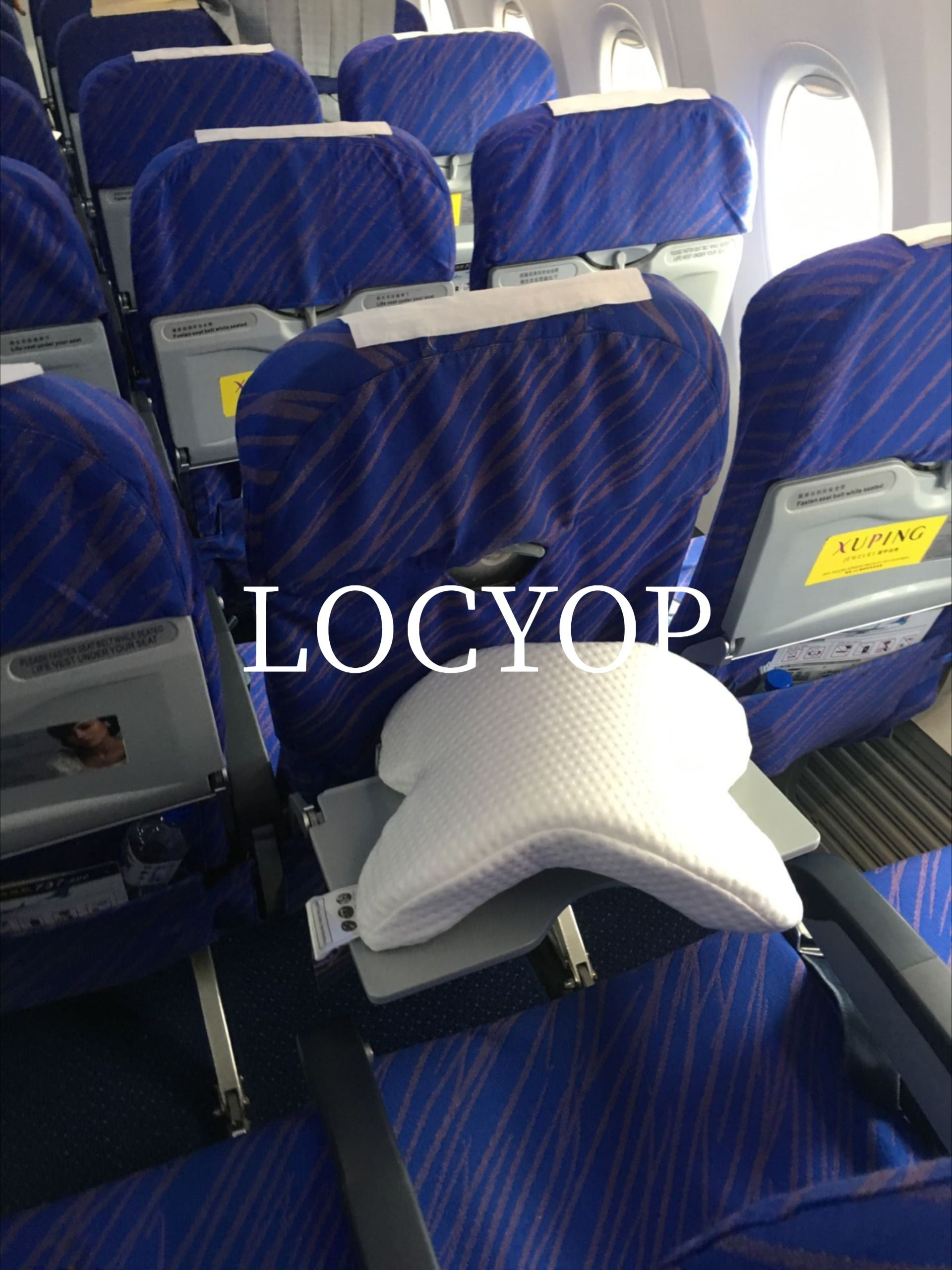 LOCYOP Pillow Cervical Pillow for Airplane Cuddle Pillow Spooning Memory Faom Pillow Slow rebound
