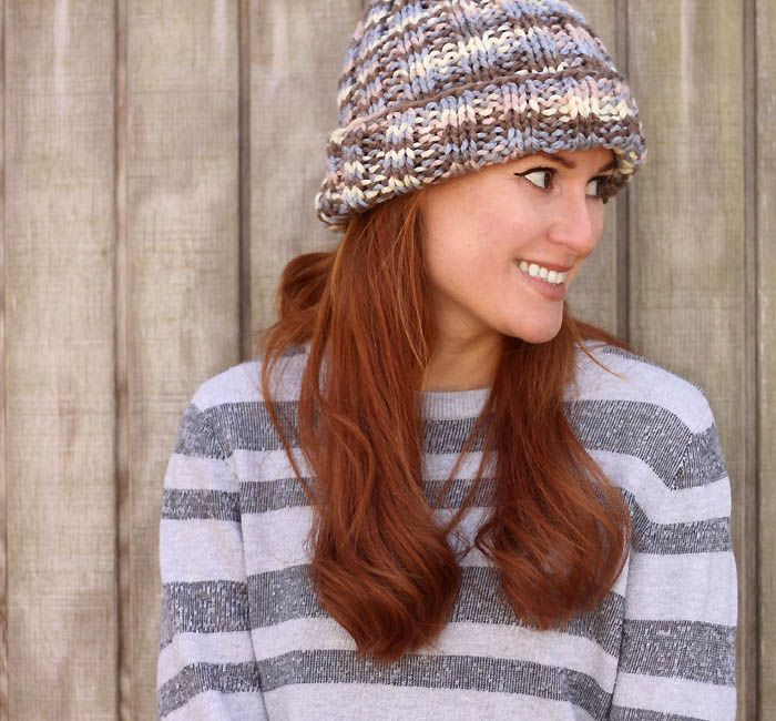 Flat Knit Hat Free Knitting Pattern Perfect For Beginners