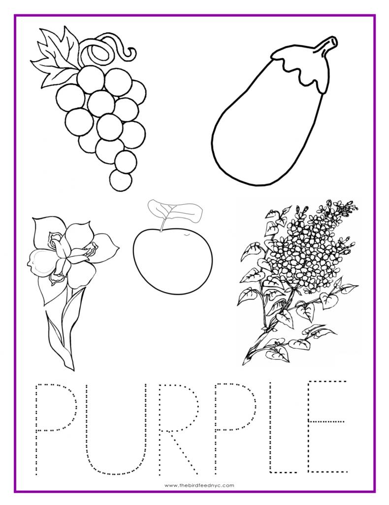 PURPLE Color Activity Sheet | Color worksheets for ...
