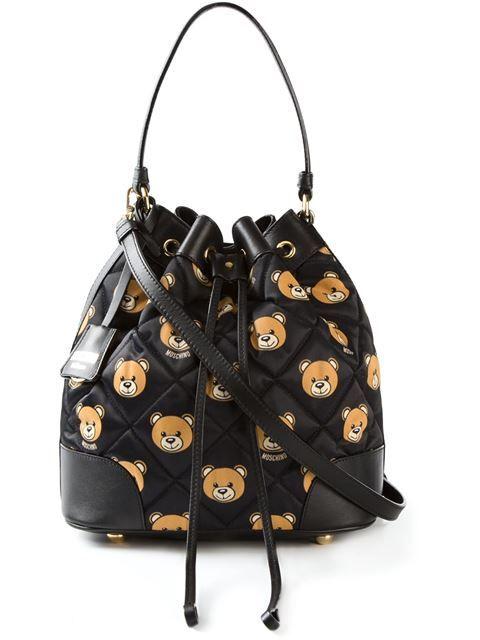 0303d5cd7583 Shop Moschino quilted Teddy bear bucket bag in Stefania Mode from the  world's best independent boutiques