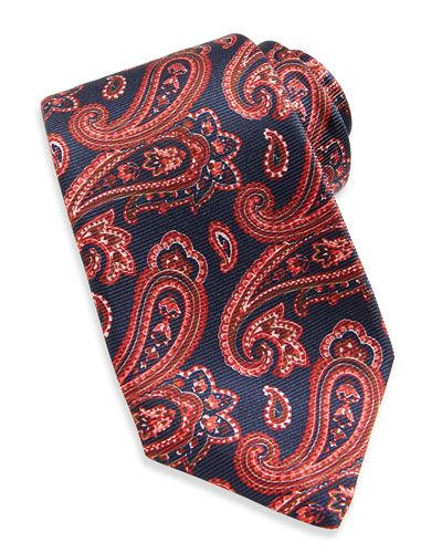 6f1787f16359 N2PEC Kiton Large-Paisley Textured Tie, Blue/Red | Things I Like in ...