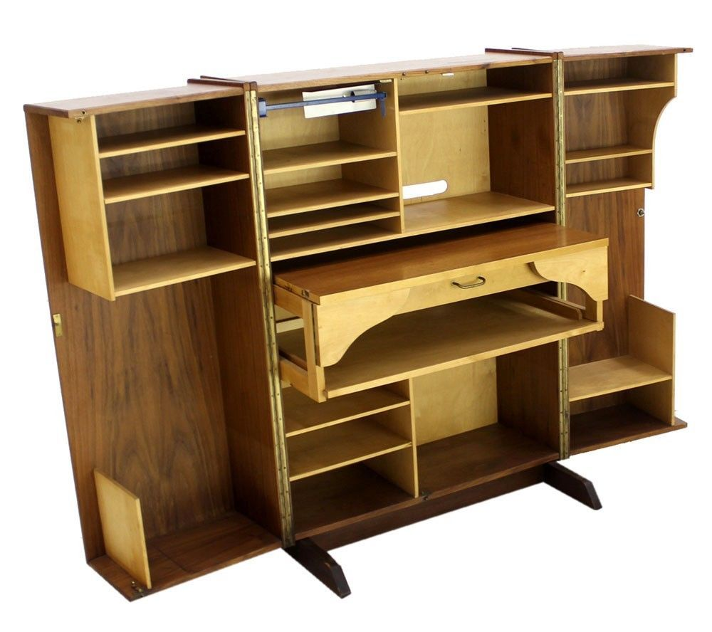 Danish Mid Century Modern Box Fold Away Secretary Desk
