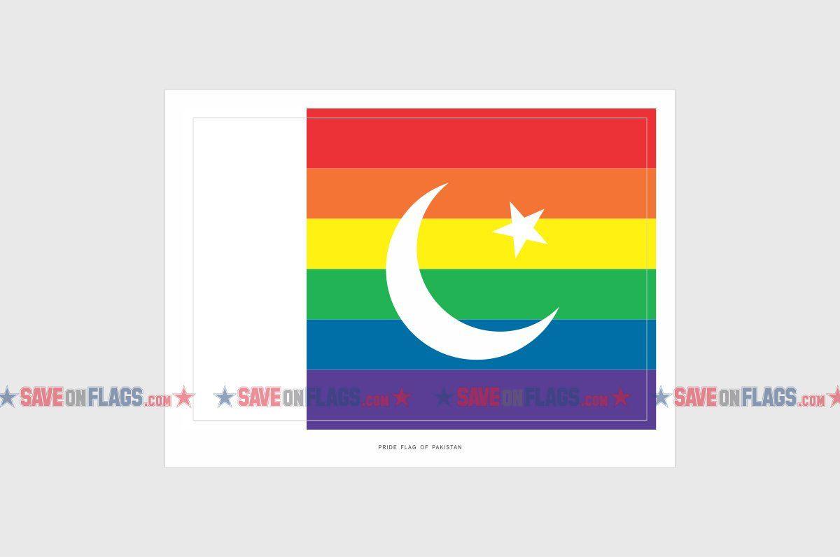 Pakistan lgbt gay pride flag sticker weatherproof vinyl pakistani lgbt flag stickers