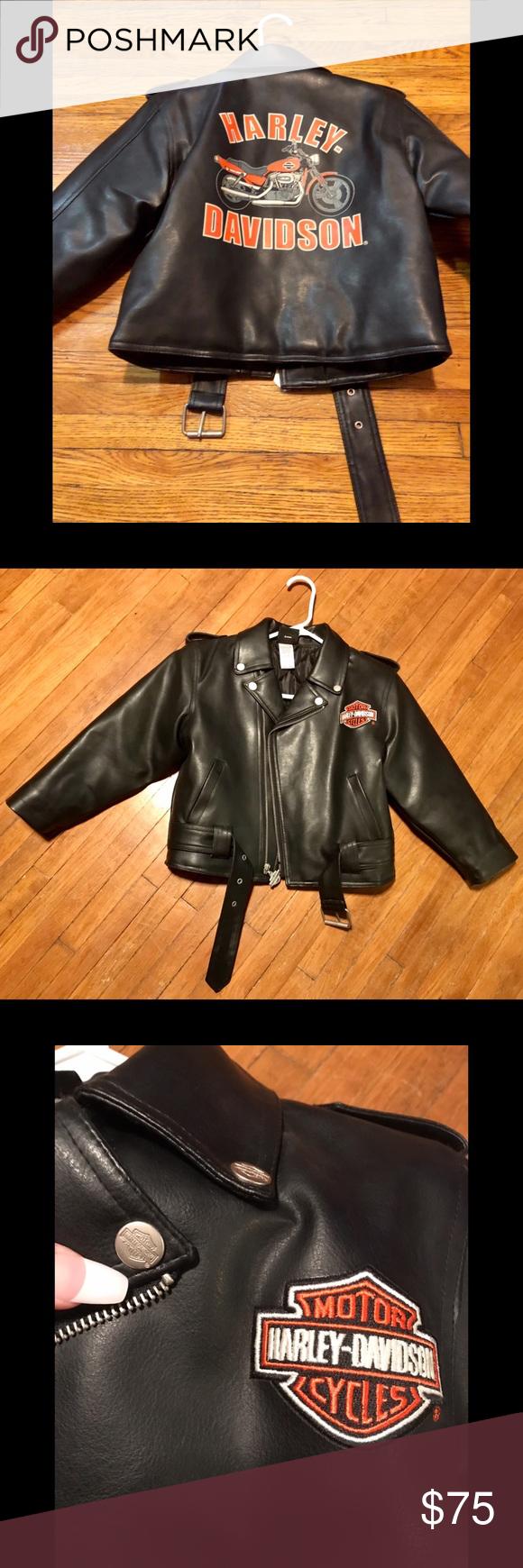 Sold Harley Davidson Kids Size 7 Jacket Harley Davidson Kids Faux Leather Jackets Harley Davidson [ 1740 x 580 Pixel ]