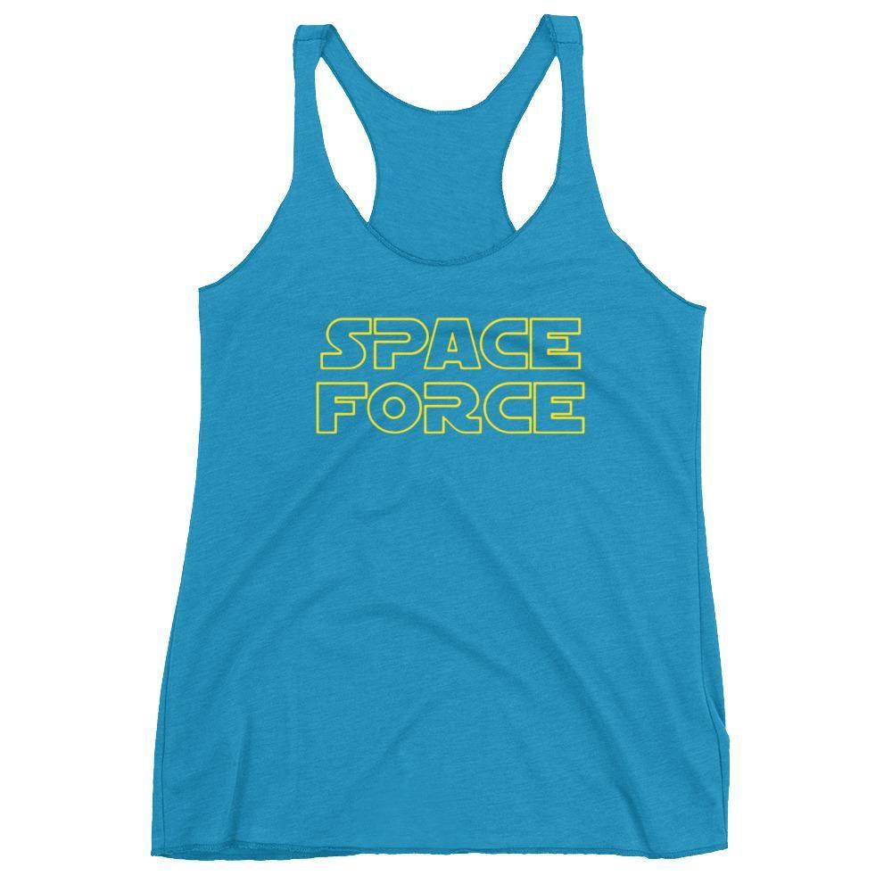 842e08e69112e Patriotic AF Space Force (Star Wars Theme) Women s Racerback Tank