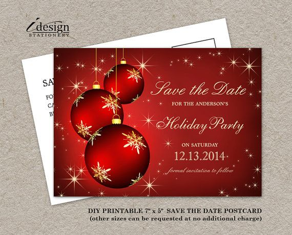 Elegant Diy Printable Christmas And Holiday Party Save The Date By Christmas Party Invitations Christmas Party Invitations Printable Holiday Party Invitations