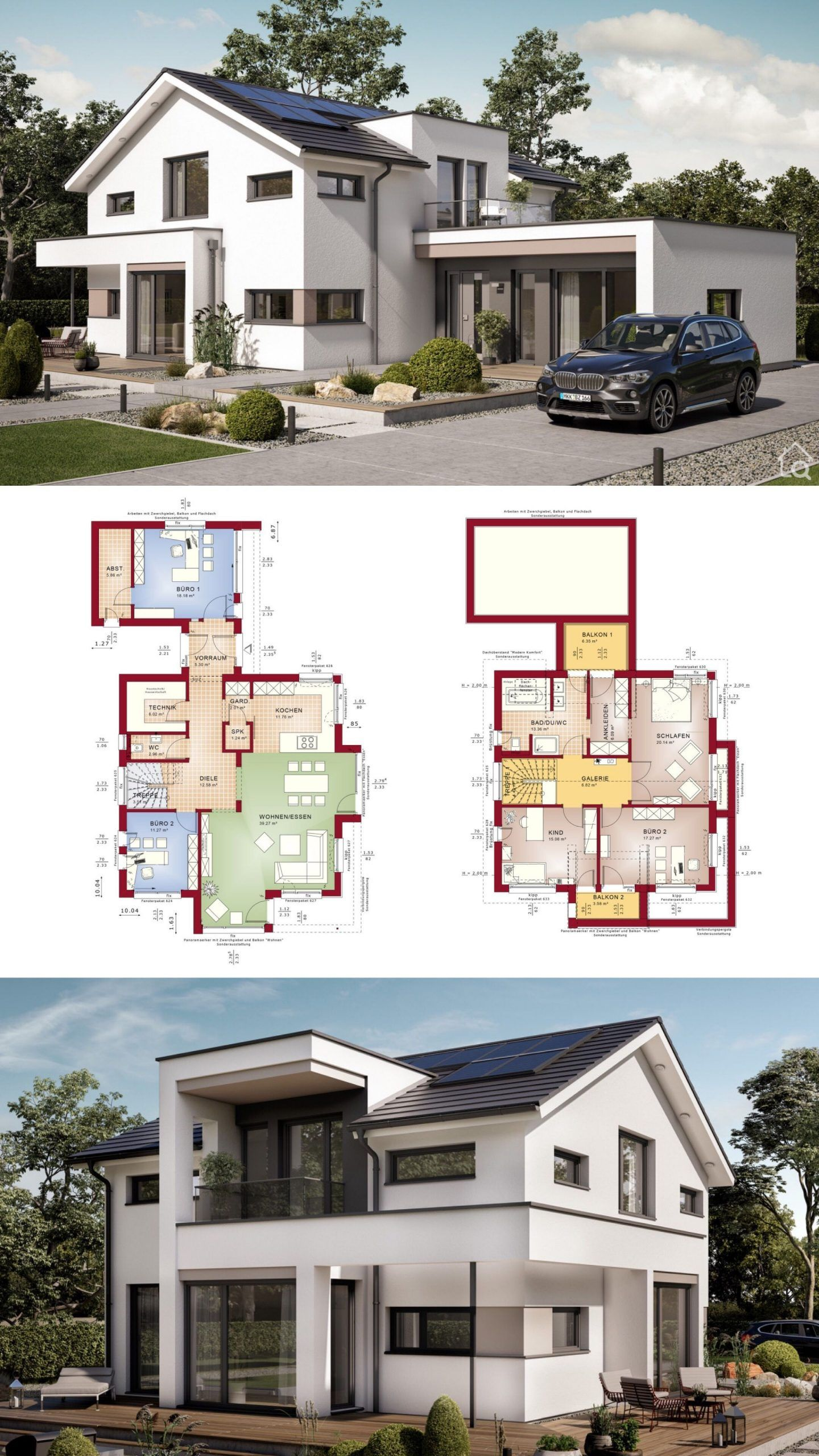 House Architecture Design Floor Plan With 2 Story Modern Architecture House Modern House Design Architecture Design