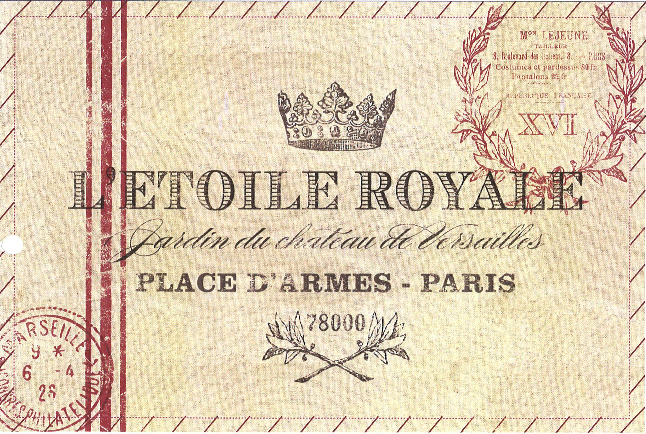 etoile royale almohadon transfer #mrpricehome #homegrown etiqueta postal