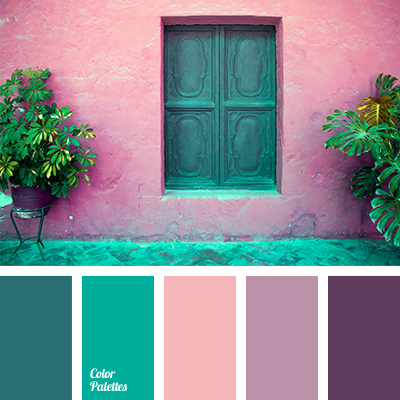 Recently the combination of azure green and bright - Gama de colores verdes ...