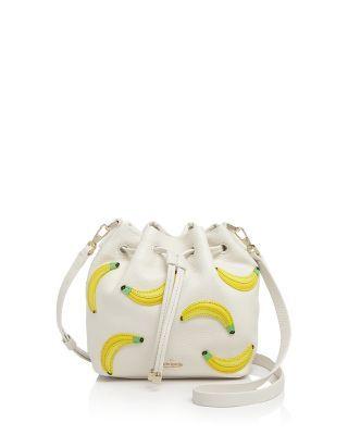 Kate Spade New York Flights Of Fancy Bananas Mini Bucket Crossbody Bloomingdale S