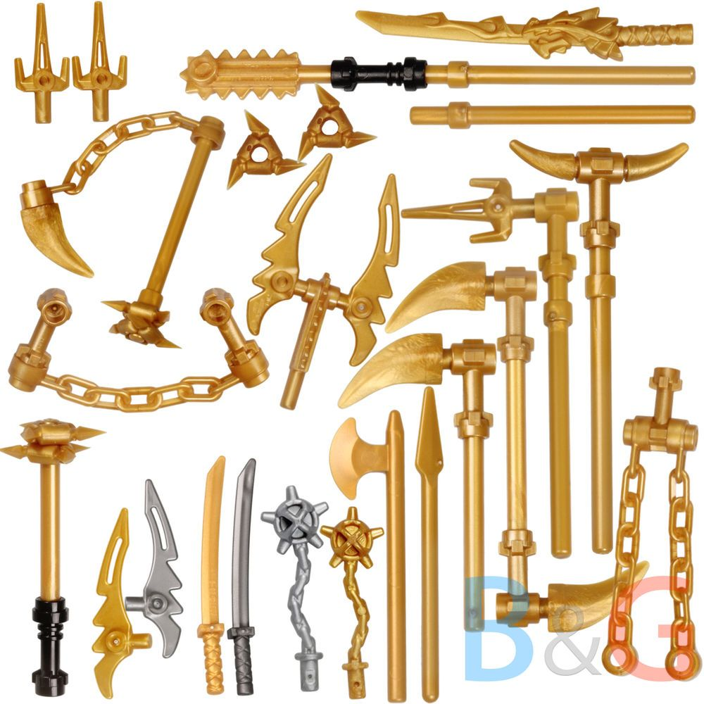 lego ninjago set 26 golden weapons spinjitzu weapons. Black Bedroom Furniture Sets. Home Design Ideas