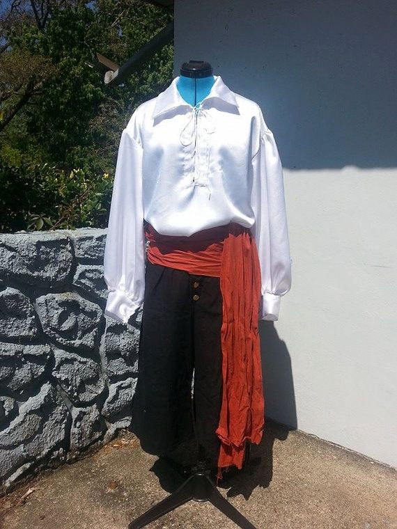 Pirate Costume Trousers Black